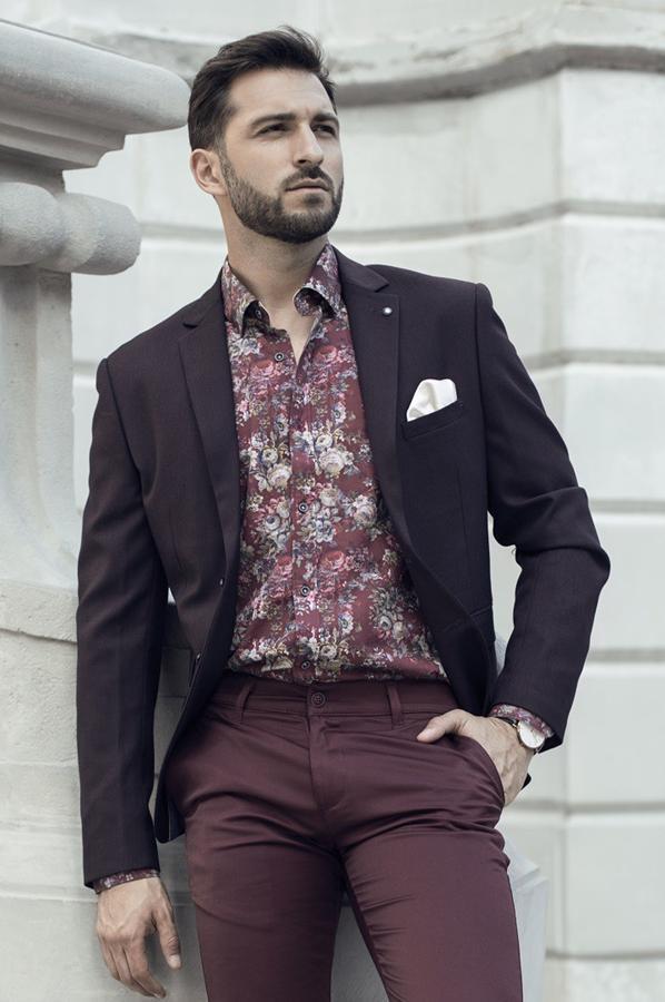Koszule męskie w kwiaty Repablo